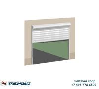 Антивандальные Рольставни на окна  1250 x 1500 с электроприводом