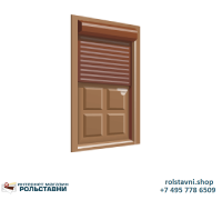 Рольставни на двери защитные 2000 x 2000 Электропривод
