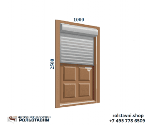 Рольставни на двери 1000 x 2500