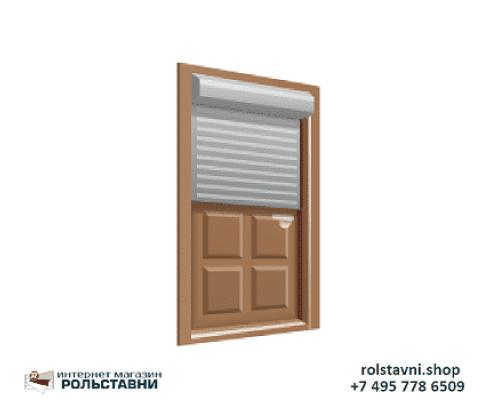 Рольставни с дверью для гаража