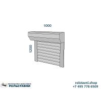 Рольставни на окна для дачи 1000 х 1200