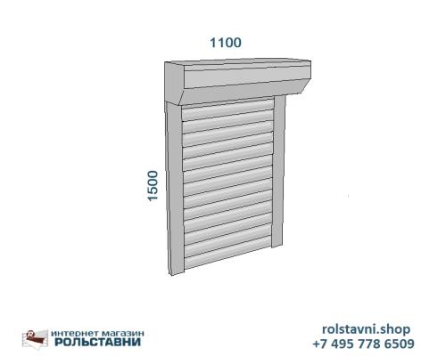Рольставни на окна для дачи 1100 х 1500