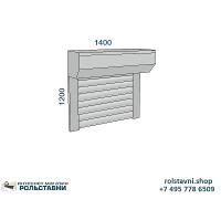Рольставни на окна 1400 х 1200