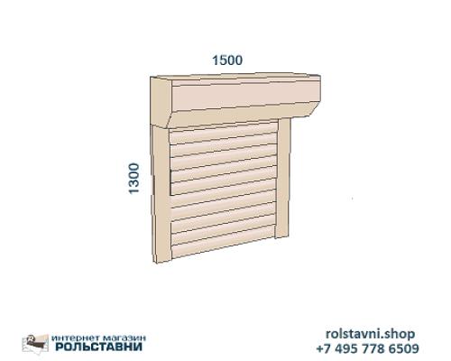 Рольставни внешние на окна коттеджа