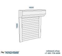Рольставни на окна для дачи 1600 х 1500