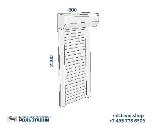 Рольставни двери для шкафа