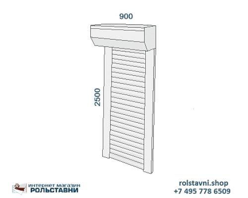 Металлические рольставни на двери