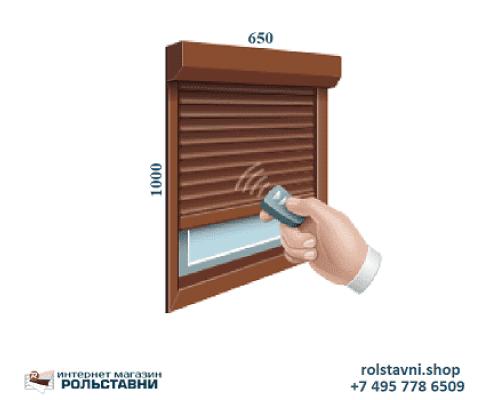 Защитные рольставни на окна 650 x 1000