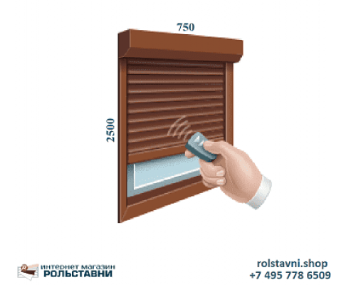 Рольставни защитные на окна 750 x 2500