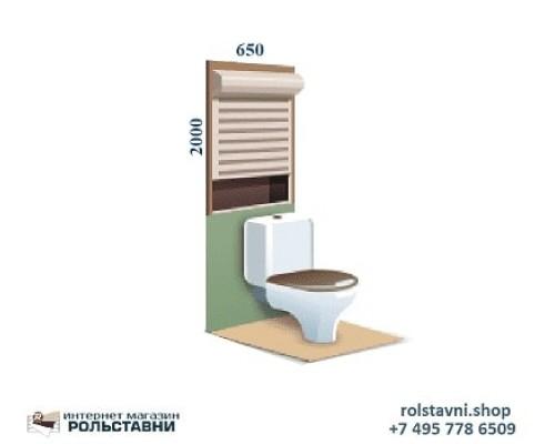 Рольставни с рисунком в туалет