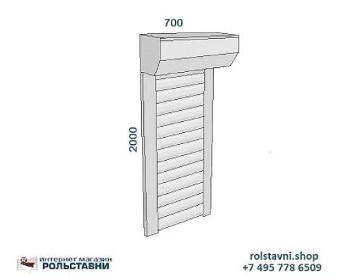 Рольставни  сантехнические 700 х 2000