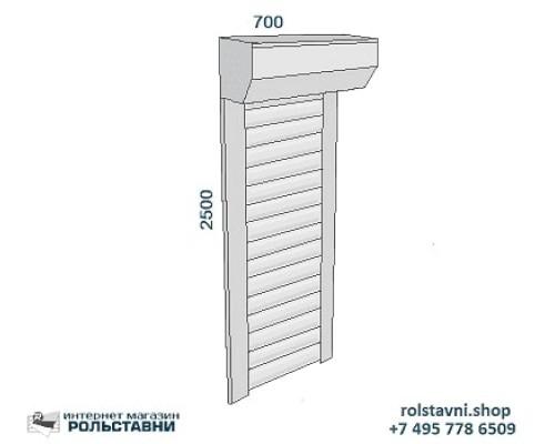 Рольставни сантехнические 700 х 2500